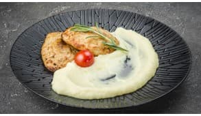 Фото - Котлеты куриные с картофелем пюре - Пиццбург