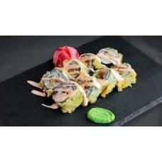 заказать Темпура ролл с лососем терияки картинка