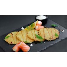 заказать Драники с лососем картинка